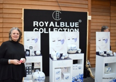 Sabine Struycken bij de Royal Blue Collection.